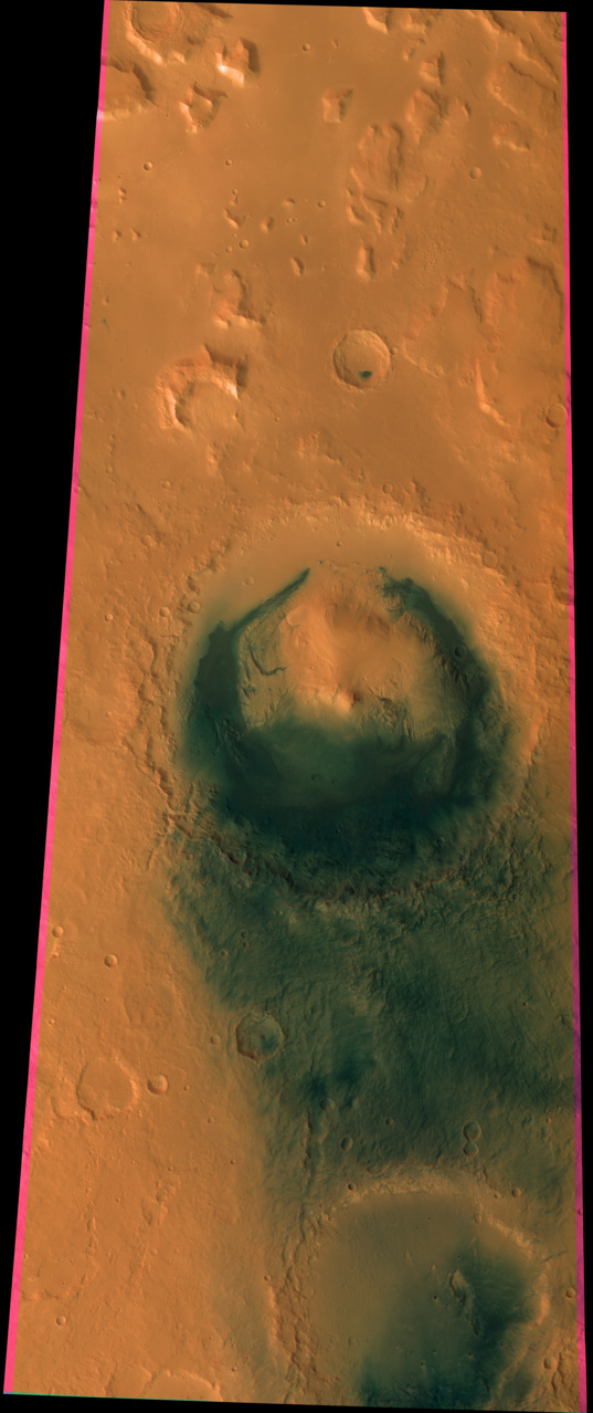 HRSC swath across Gale Crater