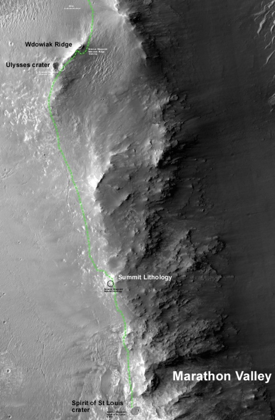 Opportunity's next goal: Marathon Valley