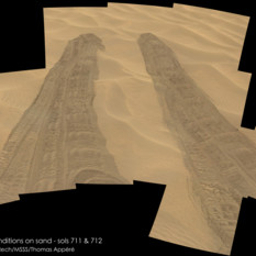 In and out of Hidden Valley, Curiosity sols 711 and 712