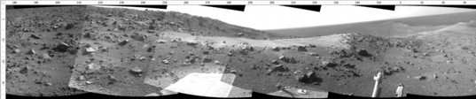 View towards Ulysses crater, sol 3790