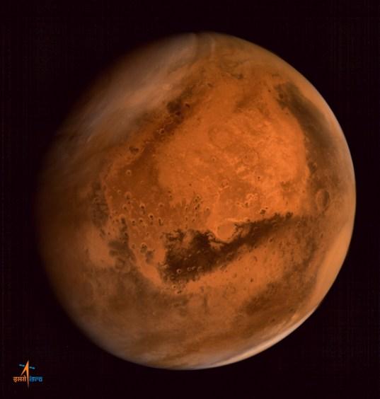 Mars Orbiter Mission's first global image of Mars