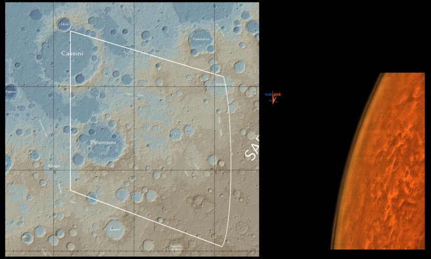 Location of the September 24, 2014 Mars Orbiter Mission Mars limb photo