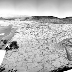 The Confidence Hills work area at the edge of Pahrump Hills outcrop, Curiosity sol 777