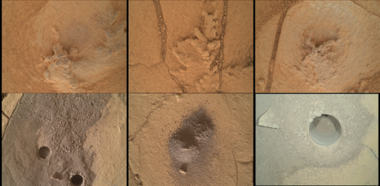 Curiosity in-situ science targets at Confidence Hills, sols 758-771