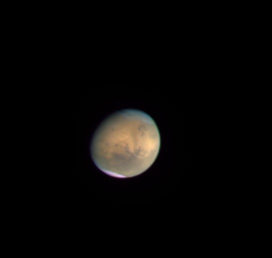 Hubble's view of Mars on October 19, 2014 (color)