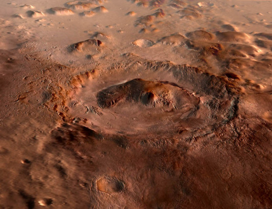 Gale Crater 3D rendering