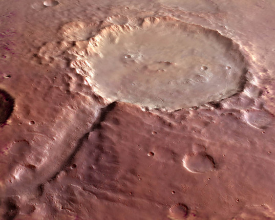 Holden Crater 3D rendering
