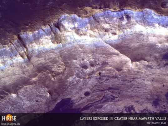 Layers around Mawrth Vallis