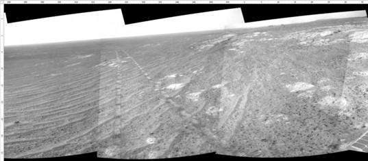 Navcam view north along the tracks