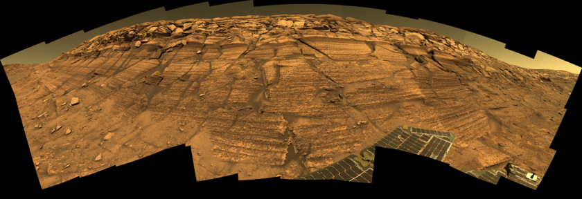 Opportunity panorama at Burns Cliff, sols 287-294