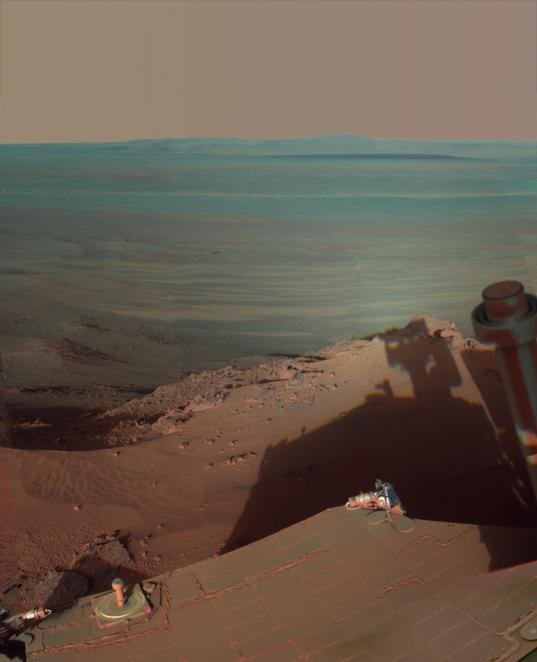 Late Afternoon Shadows at Endeavour Crater on Mars