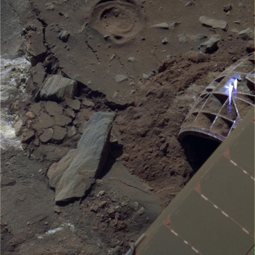 Spirit's last color photo, sol 2191