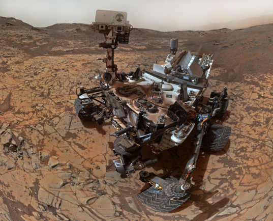 Curiosity self-portrait, sol 868 (January 14, 2015)