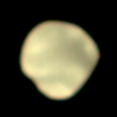 Mars Orbiter Mission photo of the far side of Deimos