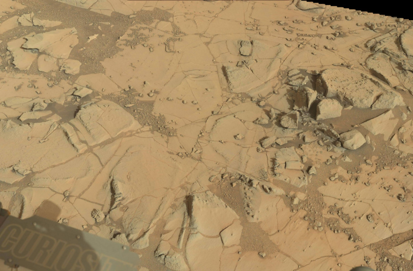 Area around the Mojave drill site before Curiosity drill activities, sol 864