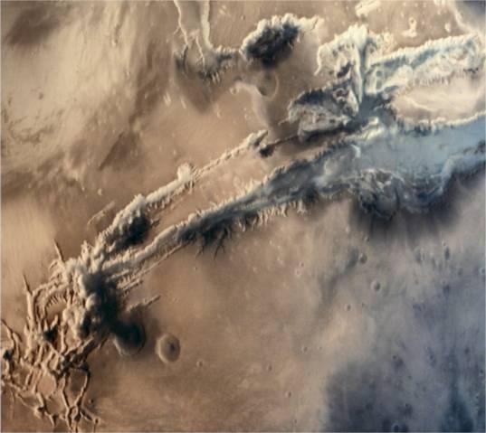 Valles Marineris from Mars Orbiter Mission