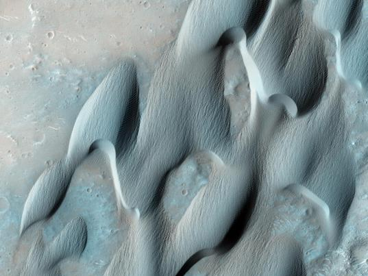 Dunes on the floor of Herschel Crater