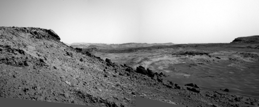 Navigational Camera view to the southwest of Tucki Mountain, Curiosity sol 951