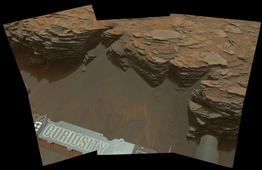 Curiosity at Mount Shields, sol 971