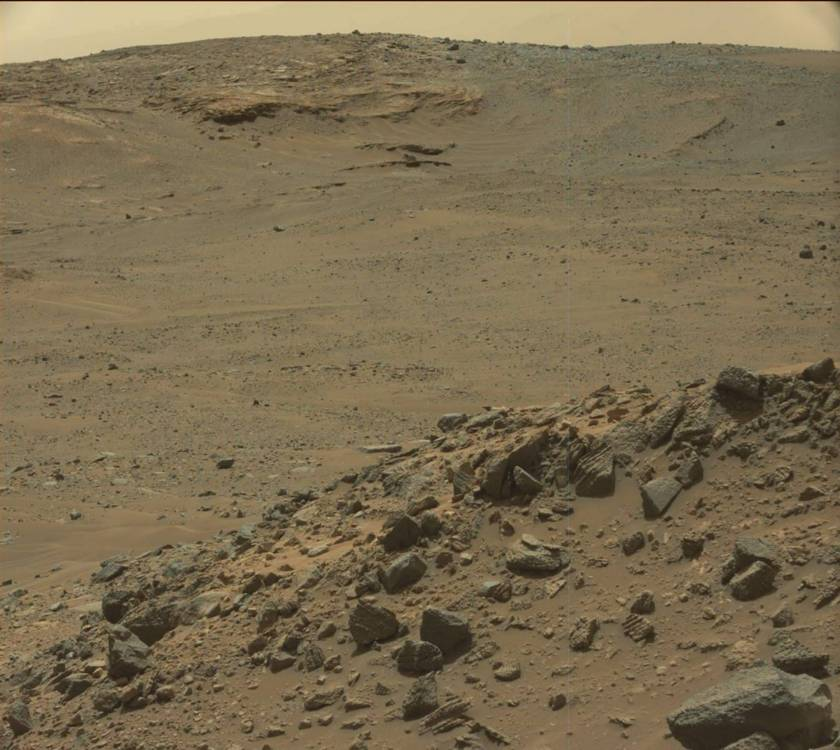 The view toward Logan's Run, sol 958