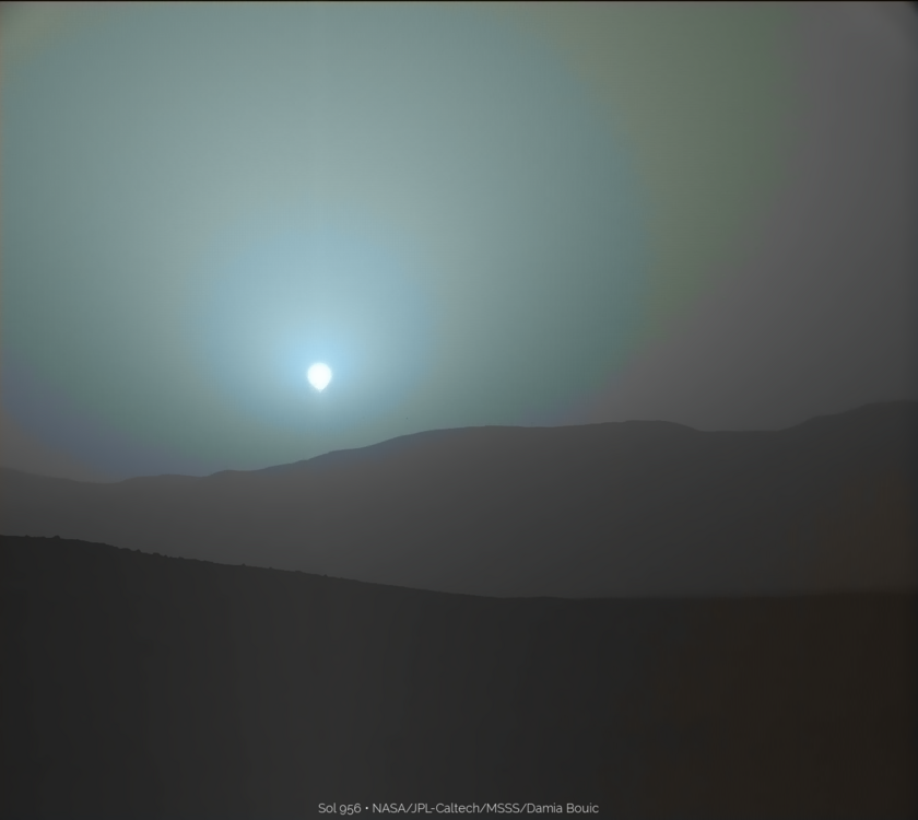 Sunset on Mars, Curiosity sol 956 (1)