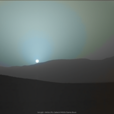 Sunset on Mars, Curiosity sol 956 (2)