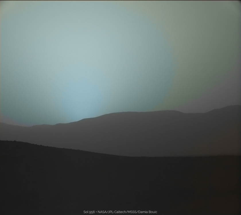 Sunset on Mars, Curiosity sol 956: after sunset