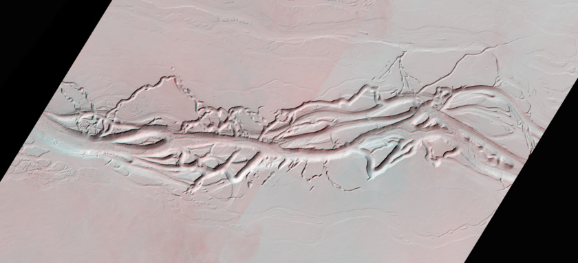 3D Anaglyph: Olympica Fossae