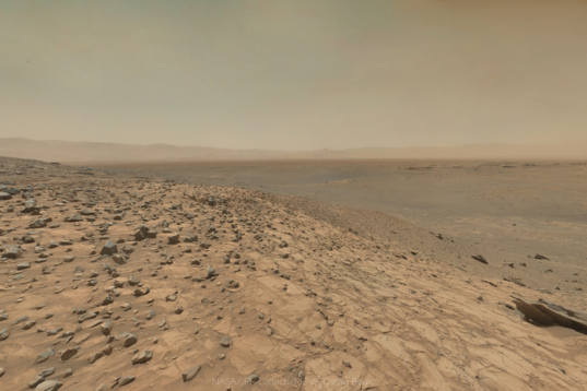 The rim of Gale Crater