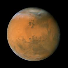 Mars during the 2007 opposition: longitude 50°