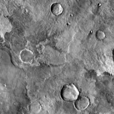 Example from ASU's new zoomable global Odyssey THEMIS map of Mars