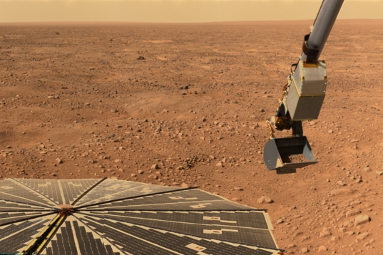 The northern plains of Mars from NASA's Phoenix lander