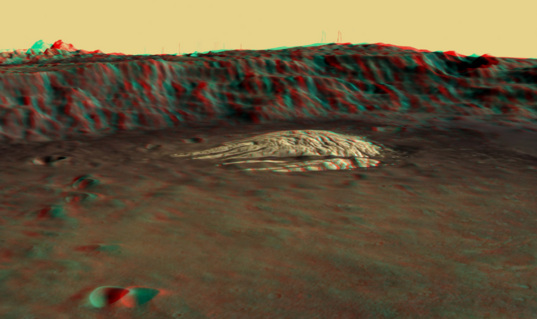 White Rock from Mars Express: 3D anaglyph