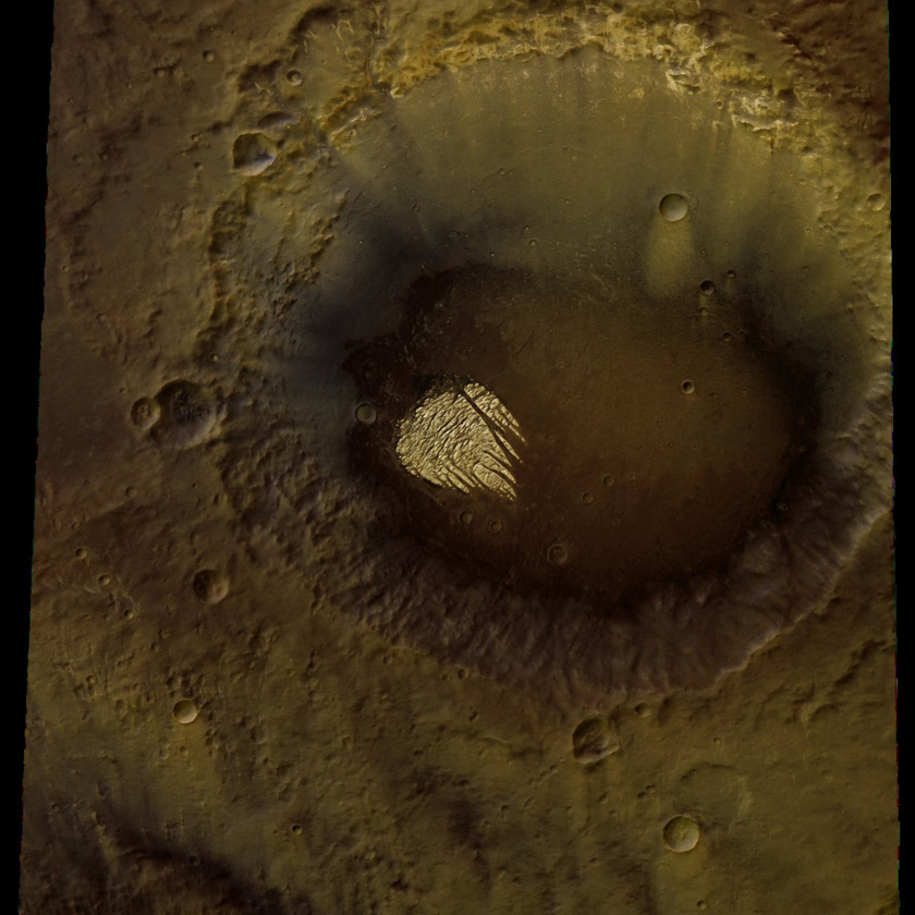 White Rock from Mars Express: color view