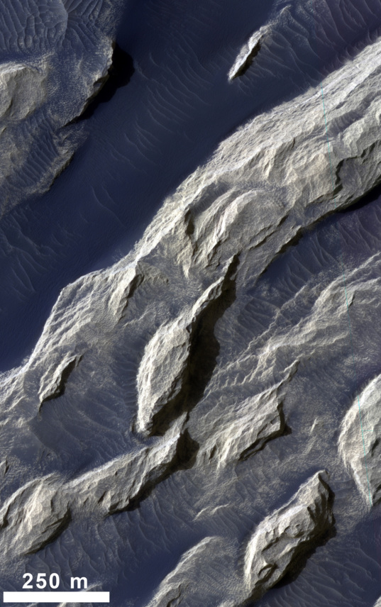 White Rock from Mars Reconnaissance Orbiter: HiRISE color detail