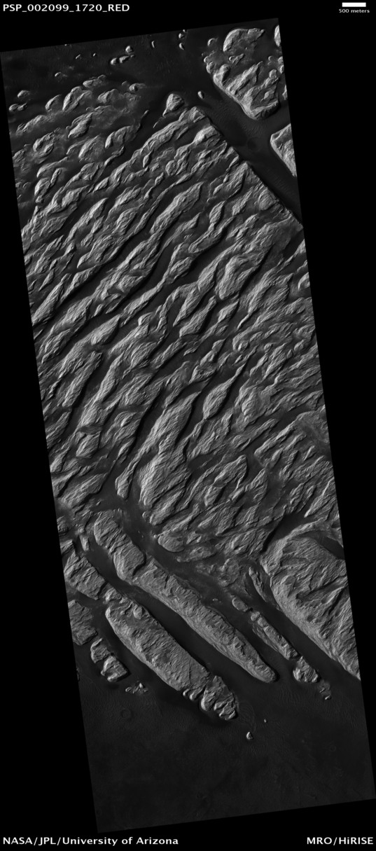 White Rock from Mars Reconnaissance Orbiter: HiRISE swath of most of central mound