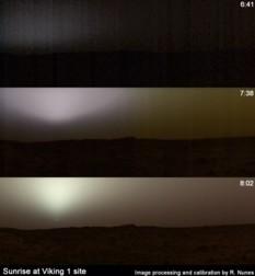 Sunrise at the Viking 1 lander site