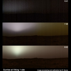 Sunrise at the Viking 1 lander site