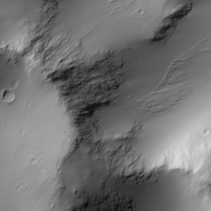 Flank of a domical feature near Zephyria Tholus
