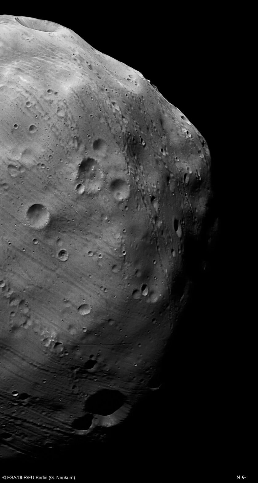 Phobos closeup from Mars Express