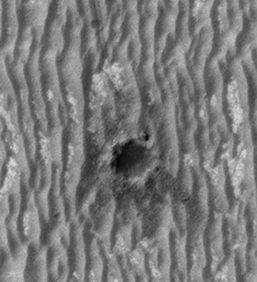 Opportunity at Concepción crater (detail)