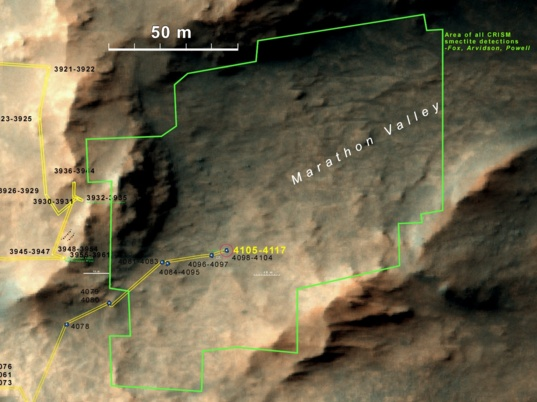 Opportunity's current location
