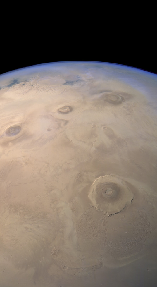 Mars Express HRSC view of the Tharsis region
