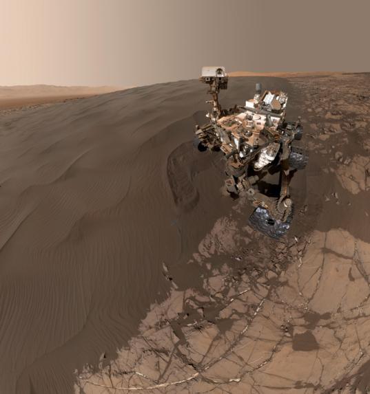 Curiosity self-portrait at Namib dune, sol 1228