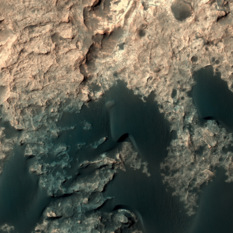 HiRISE view of Curiosity, sol 1207 (December 29, 2015)