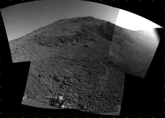 Latest image from January 27, looking at the outcrop after a short drive