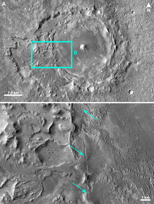 Faults in Gunjur Crater