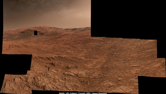 Opportunity's view to the southwest Sols 4330-4334
