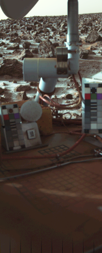 Viking Lander 2 Camera 2 frost on Sol 955
