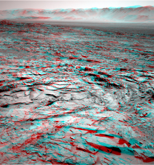 Rough terrain at the western edge of the Naukluft plateau (3D)